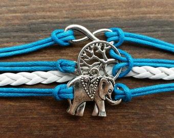 Infinity Bracelet/Tree of Life Bracelet/Elephant Bracelet/Charm Bracelet/Leather Bracelet/Friendship Bracelet/Cuff/Cord/Eco-friendly
