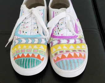 Hand Painted Tribal Shoes
