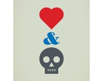 Love & Death - 40 x 50cm giclee print