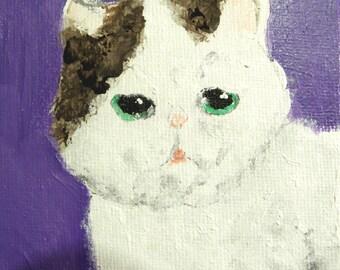 Smoosh Face Kitten - Original Art
