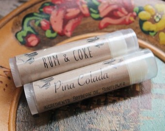 Natural Lip Balm Ten Flavors To Choose From Softening and Moisturizing