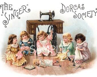 Fabric Art Quilt Block *Dorcas Society*  5601 FREE SHIPPING