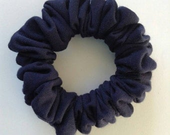 Navy Blue Jersey Scrunchie