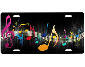 Music Notes License Plate