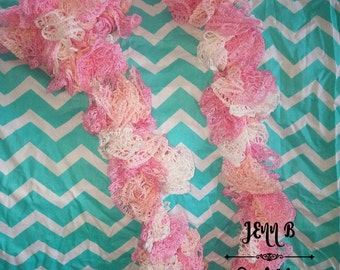 SALE ~ Your choice of Ruffle Scarves ~ Choose from Pink, Turquoise, Pink/Purple, Red/Black/White or Pink/Purple/Aqua