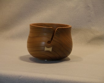 Wooden yarn bowl, hand made knitting crochet bowl