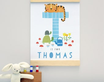 Personalised New Baby Name Wall Hanging