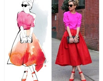 Custom watercolor illustration. Custom fashion illustration from photo. Custom portrait from photo. DIGITAL FILE