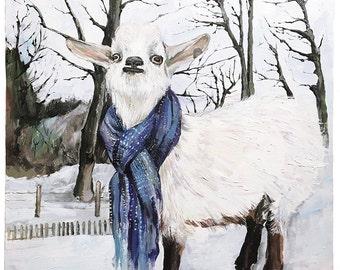 goat original large painting