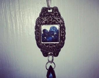 Vintage Marcasite Watchcase Filled With Chopard Style Floating Vintage Indigo Gems