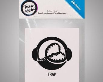 Electronic - Trap [Music genre vinyl decal]