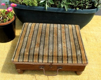 Antique French footwarmer / footstool, 1800s