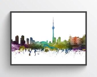 Toronto Skyline Poster, Toronto Cityscape, Toronto Print, Toronto Art, Toronto Decor, Home Decor, Gift Idea, CAONTO01P