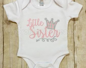 Little Sister Bodysuit, New Baby Girl Announcement Bodysuit, Baby Sister Bodysuit, Big Sister/Little Sister Shirt