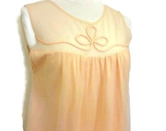 Vintage nylon chiffon nightgown