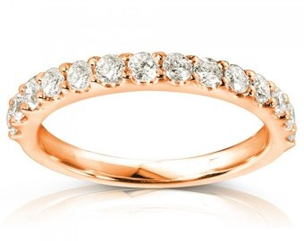 Ladies Diamond Wedding Band 1/2 CTW 18K Rose Gold