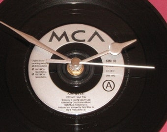"Kim Wilde if i can't have you  7"" vinyl record clock"