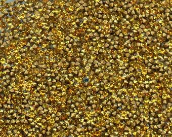451086*** 60 vintage rhinestones point back 1,25mm, TOPAZ