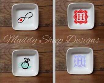 Ring dish, Jewelry holder, Earring dish, Change Dish