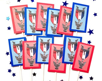 Eagle Scout Pin Cupcake Toppers