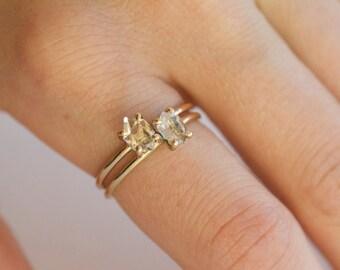 14k Gold Diamond Ring. Herkimer Diamond 18k Gold Ring. White Gold Diamond Engagement Ring. Rose Gold Diamond Engagement Ring. Herkimer Ring