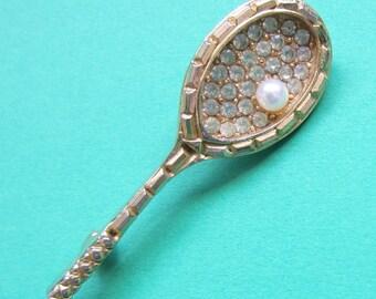 Vintage Tennis Racket Brooch