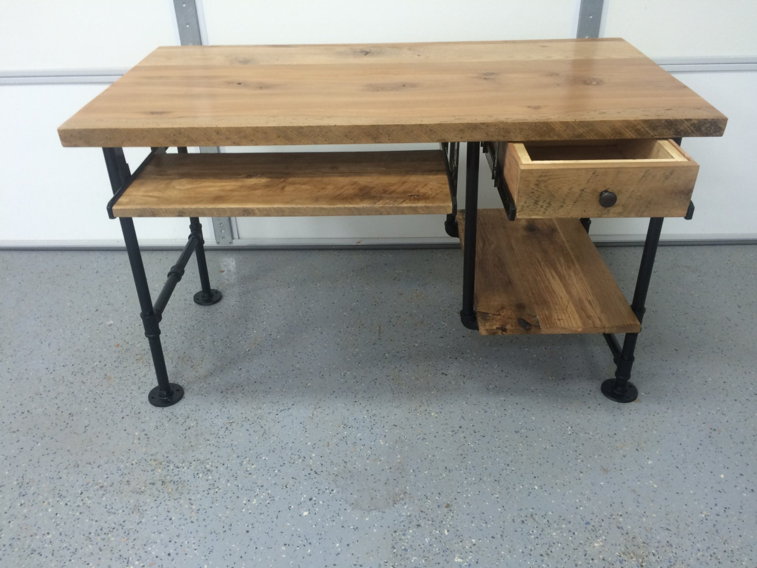 Wooden Computer Desk ~ Computer desk reclaimed wood rustic barnwood table