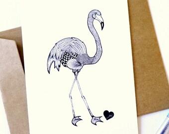 Flamingo tekening etsy - Schilderen gemengde kamer ...