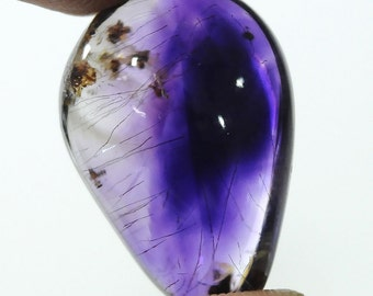 34.00ct Brazilian Violet Natural Purple Amethyst Gemstone Cabochon 26*17*11 Ring