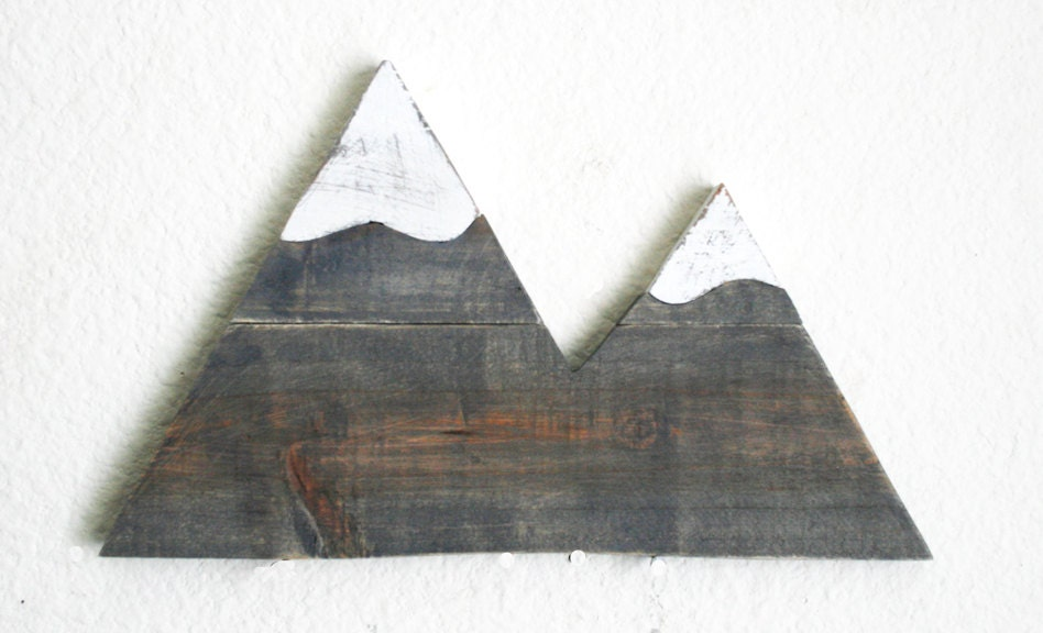 Mountain Wood Cutout Wilderness Forest Gift Home Decor