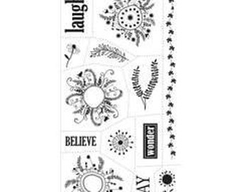 """Heidi Grace """"Day Dream Believer"""" - Clear stamps - Laugh stamp - Believe  stamp - Play stamp -"""
