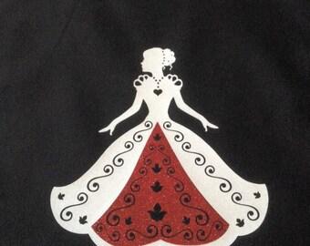 Princess tote bag- Black 6 oz tote