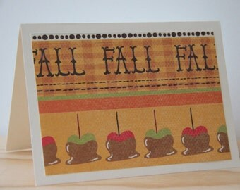 12 Fall Note Cards. Caramel Apple Note Cards. Candy Apple Note Cards. Harvest Party Invitations. Thanksgiving Cards. Autumn Card Set
