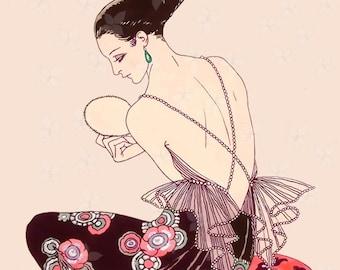 Instant Download Vintage Fashion Magazine Print, Georges Barbier, Art Deco, French Fashion,Vintage Images, Ephmera,Decoupage,Scrapbooking