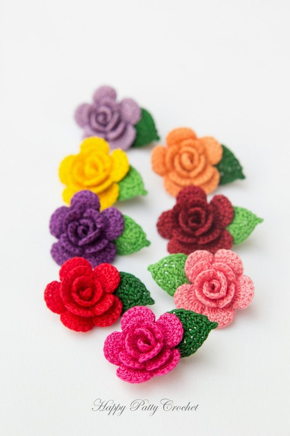 Crochet Flower Pattern Small : CROCHET PATTERN - Mini Crochet Flower Pattern - Small ...