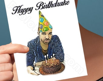 Funny Birthday Card | Drake Card | Greeting Cards Handmade Cards Funny Cards Funny Anniversary Card For Her Him Men Him Boyfriend Girlfriend