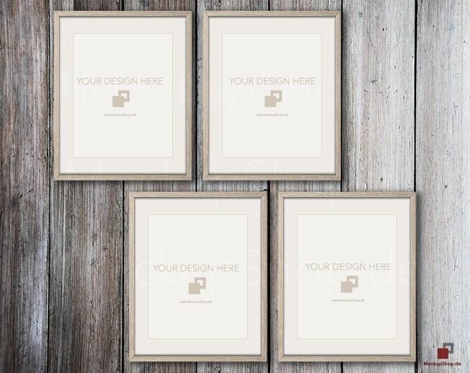 MOCKUP PHOTO FRAME 16x20 Weathered brown on old wooden wall, Frame Mockup, Amazing browm photo frame mockup, Empty Frame, Digital Download