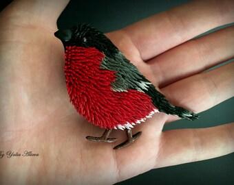 Brooch Bullfinch,  Red bird, Winter  bird, Christmas bird, Brooch bird, Winter Bullfinch, Red Bullfinch, Christmas Bullfinch