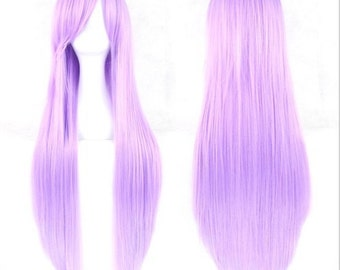 Lilac Purple Long Synthetic Cosplay Wig