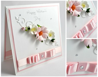 Handmade Mother's Day Card / Choice of Colours / Keepsake Box Available / Mothering Sunday / Luxury / Mothers Day