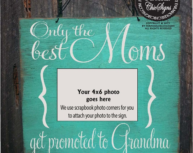 gift for mom, grandma to be gift, grandma Gift, Picture Frame, Sign with Photo Holder, grandma decor, grandma quote