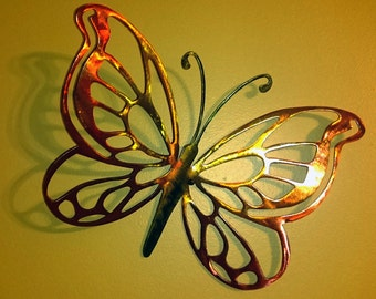 Stained Steel Butterfly