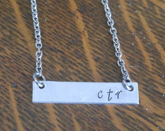 Ctr necklace for LDS baptism