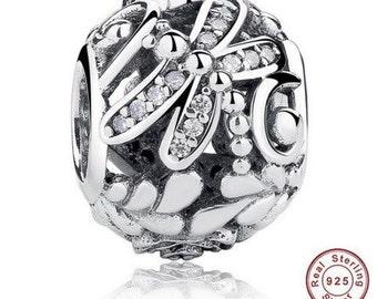 Sterling Silver 925 Dragonfly Charm fit Pandora Bracelet ,Pandora Charm, First Anniversary Gift for Her, Pandora Beads, Pandora Jewelry