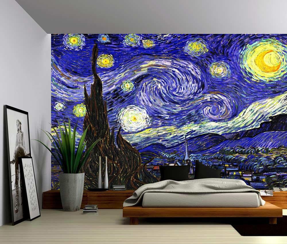 starry night large wall mural self adhesive vinyl elk grove mural photos in elk grove california
