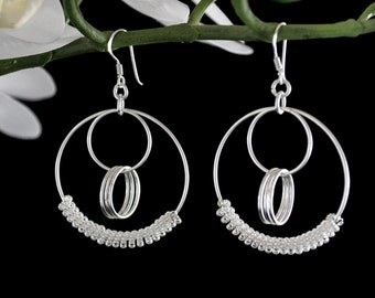 Sale! Sterling Silver Dangle Earrings, Drop Earrings, Hoop Earrings