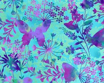 Aqua Butterfly Focal Print-Studio E-BTY