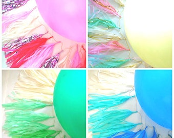 Large Balloon and Tissue Tassel Garland Tail - Design your own.