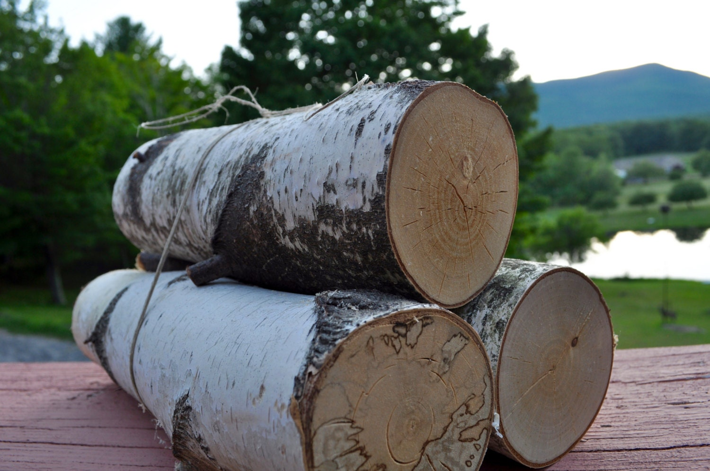 Birch scraps birch logs bundled logs craft by woodenboards for White birch log crafts