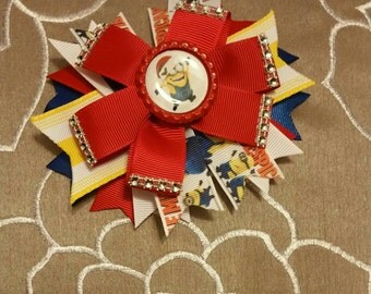 Minion Christmas Hairbow